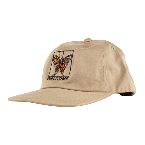 WELCOME BUTTERFLY SNAPBACK - KHAKI