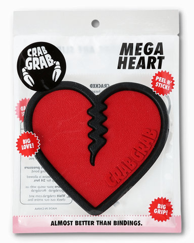 CRAB GRAB MEGA HEART STOMP PAD - RED / BLACK