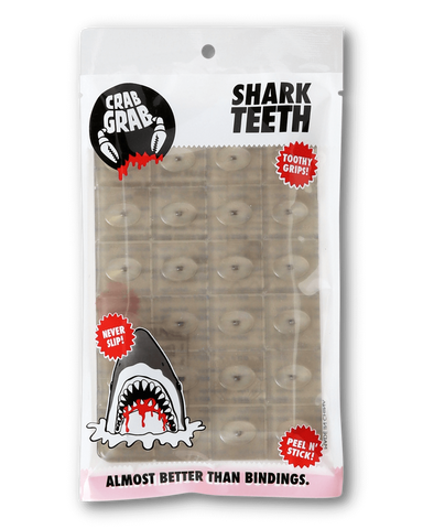 CRAB GRAB MINI SHARK TEETH STOMP PAD - SMOKE