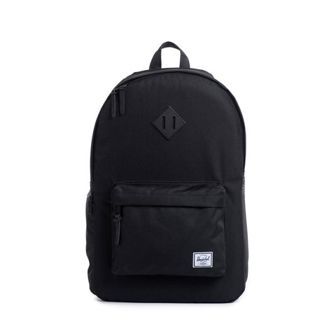 HERSCHEL HERITAGE 600D POLY BACKPACK - BLACK / BLACK