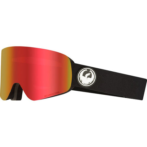 DRAGON NFX GOGGLE - BLACK / LUMALENSE RED ION + LUMALENSE ROSE