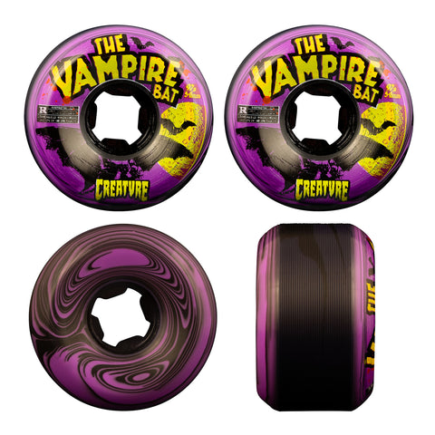 OJ VAMPIRE BAT BLOODSUCKERS BLACK PURPLE WHEELS - 54MM 97A