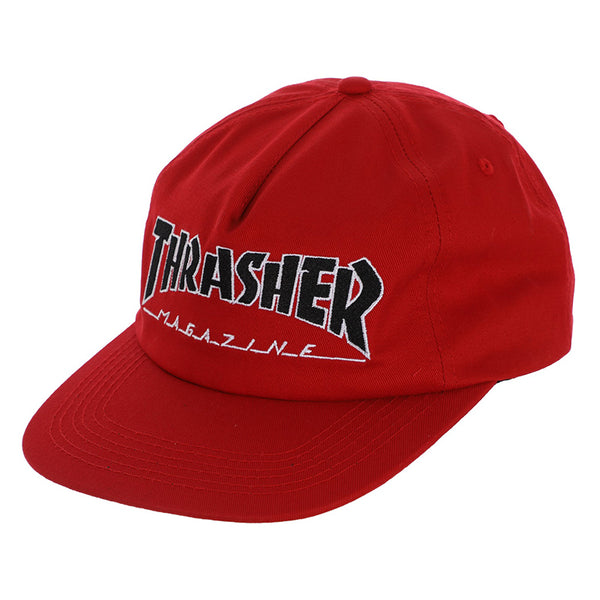 96e69edf4 THRASHER MAGAZINE OUTLINED LOGO SNAPBACK - RED