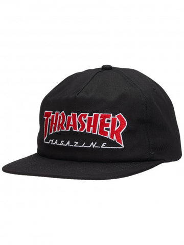 THRASHER MAGAZINE OUTLINED LOGO SNAPBACK - BLACK