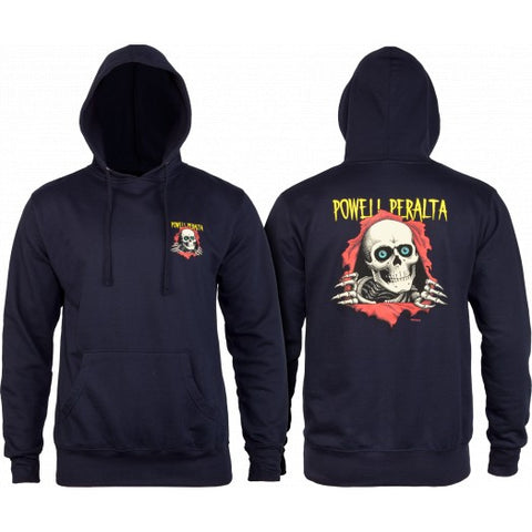 POWELL PERALTA WINGED RIPPER HOODIE - NAVY