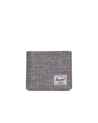 HERSCHEL ROY+ CARD WALLET - RAVEN CROSSHATCH