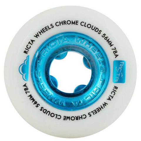RICTA CHROME CLOUDS BLUE WHEELS - 56MM 78A