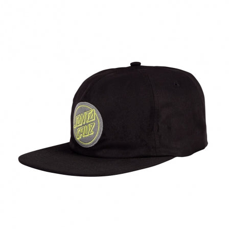 SANTA CRUZ REVERSE DOT SNAPBACK HAT - BLACK