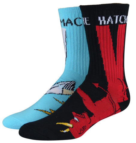 TOY MACHINE BURY THE HATCHET SOCKS - RED / BLUE