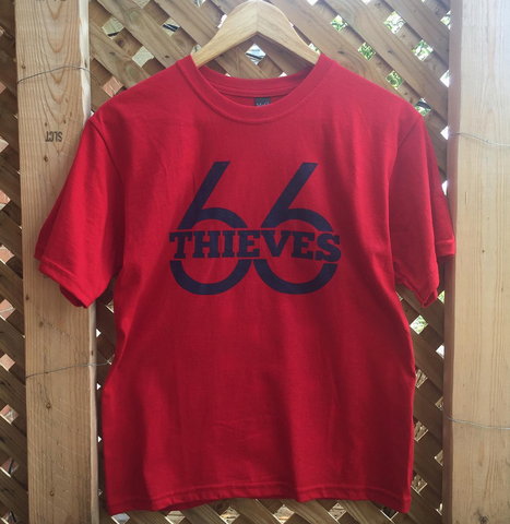 66 THIEVES LOGO T-SHIRT - RED