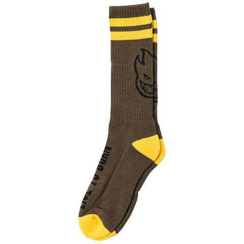 SPITFIRE HEADS UP SOCKS - OLIVE/YELLOW/BLACK
