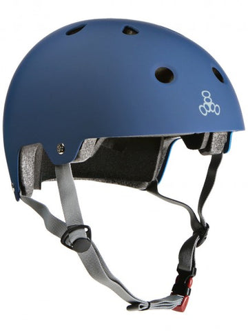 TRIPLE 8 BRAINSAVER DUAL CERTIFIED HELMET - RUBBER BLUE