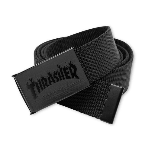 THRASHER WEB BELT - BLACK