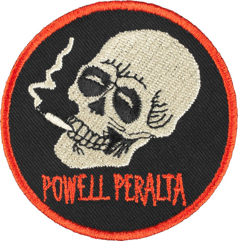 "POWELL PERALTA SMOKING SKULL PATCH - 2.5"" X 2.5"""