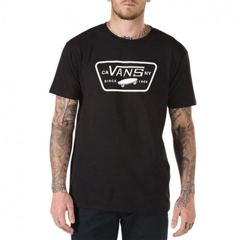 VANS FULL PATCH T-SHIRT - BLACK