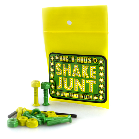 "SHAKE JUNT BAG-O-BOLTS 1"" ALLEN HARDWARE - 4 GREEN, 4 YELLOW"