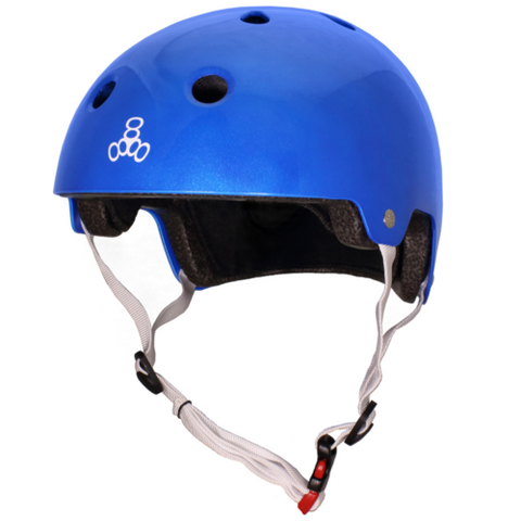 TRIPLE 8 BRAINSAVER HELMET - METALLIC BLUE GLOSS