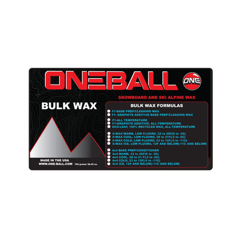 ONEBALL BULK F-1 WHITE ALL TEMP WAX - 750G