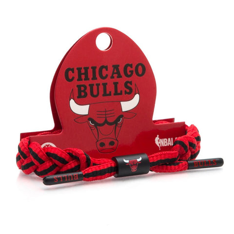 RASTACLAT CHICAGO BULLS BRACELET - BLACK / RED