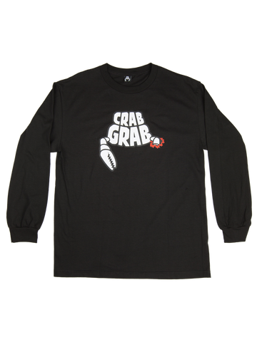 CRAB GRAB DEATH BY CLAW LONGSLEEVE T-SHIRT - BLACK