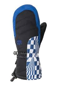 686 YOUTH HEAT INSULATED MITT - PRIMARY BLUE CHECKERS