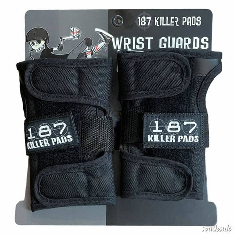 187 WRIST GUARDS - BLACK
