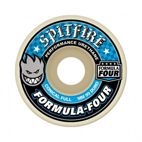 SPITFIRE CONICAL FULL FORMULA FOUR WHEELS - 53MM 99DURO