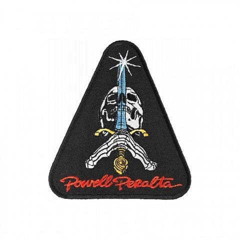 "POWELL PERALTA SKULL AND SWORD PATCH - 3.75"" X 4.25"""