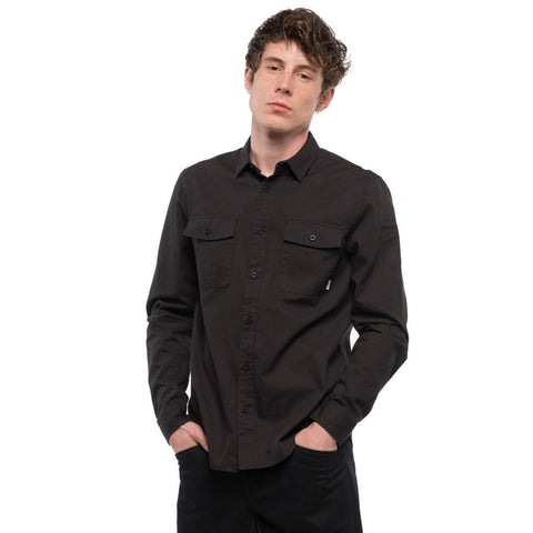 ELEMENT HOUSTON BUTTON DOWN SHIRT - FLINT BLACK