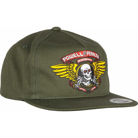 POWELL PERALTA WINGED RIPPER SNAPBACK - MOSS GREEN