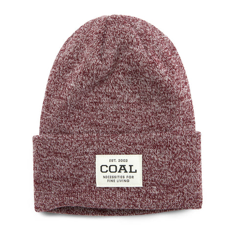COAL UNIFORM BEANIE - BURGANDY MARL
