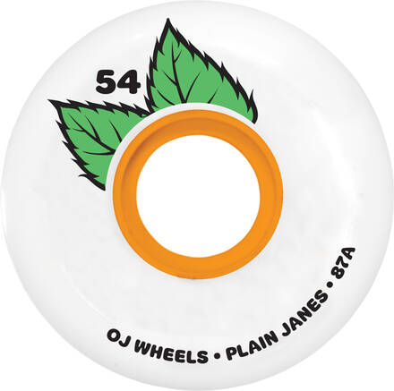 OJ PLAIN JANE KEYFRAME WHEELS - 54MM 87A - WHITE