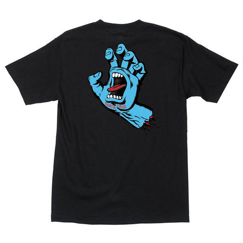 SANTA CRUZ SCREAMING HAND T-SHIRT - NAVY