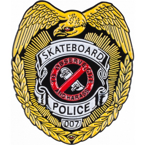POWELL SKATEBOARD POLICE PIN