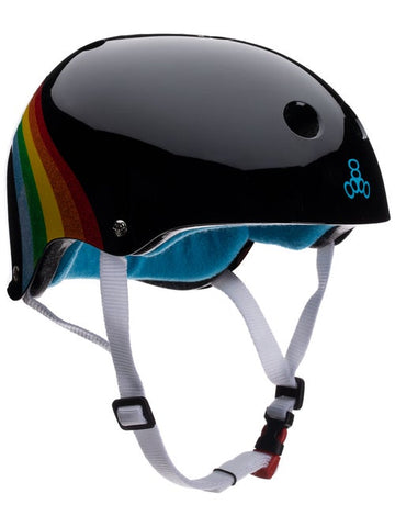 TRIPLE 8 SWEATSAVER HELMET - BLACK RAINBOW
