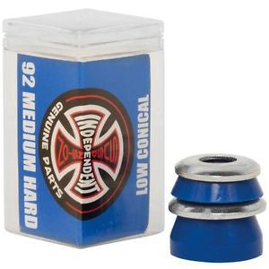INDEPENDENT TRUCKS BUSHINGS - 92 MEDIUM HARD CONICAL BLUE