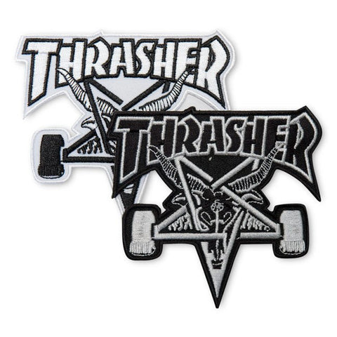 THRASHER SKATE GOAT PATCH - WHITE OR BLACK