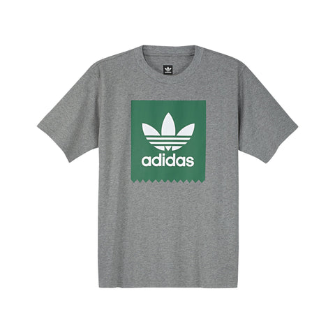 ADIDAS SOLID BB T-SHIRT - HEATHER GREY / GREEN