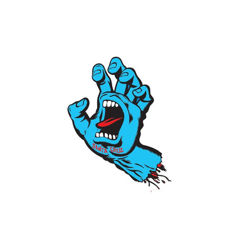 SANTA CRUZ SCREAMING HAND STICKER - 3""