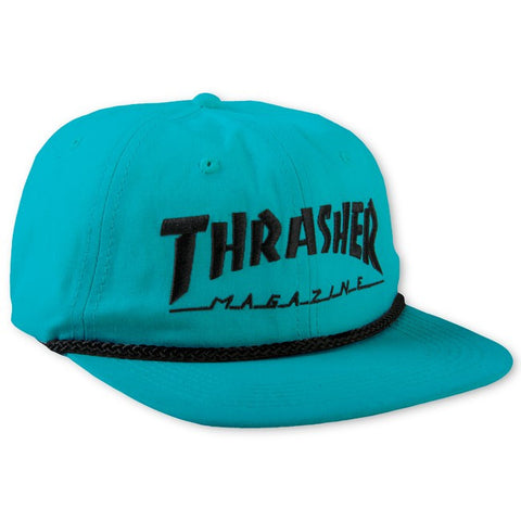 THRASHER ROPE SNAPBACK - TEAL