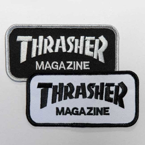 THRASHER PATCH - WHITE OR BLACK