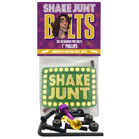 "SHAKE JUNT BOLTS DEE OSTRANDER 1"" PHILLIPS HARDWARE"