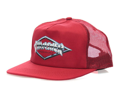 THRASHER DIAMOND EMBLEM TRUCKER - RED
