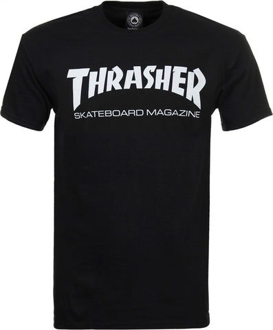 THRASHER SKATE MAGAZINE T-SHIRT - BLACK