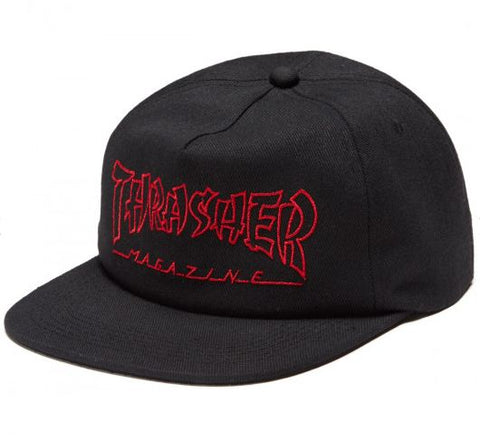 THRASHER CHINA BANKS SNAPBACK - BLACK