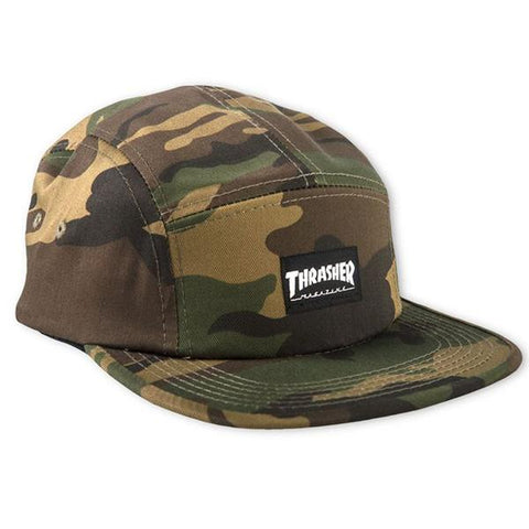 THRASHER 5 PANEL STRAPBACK - CAMO