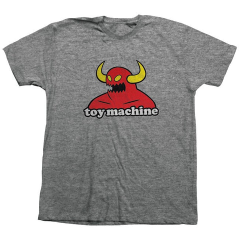 TOY MACHINE MONSTER T-SHIRT - ASH HEATHER