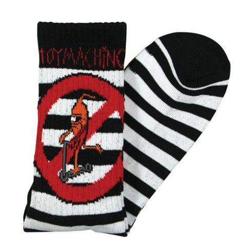 TOY MACHINE NO SCOOTERS SOCKS - BLACK / WHITE