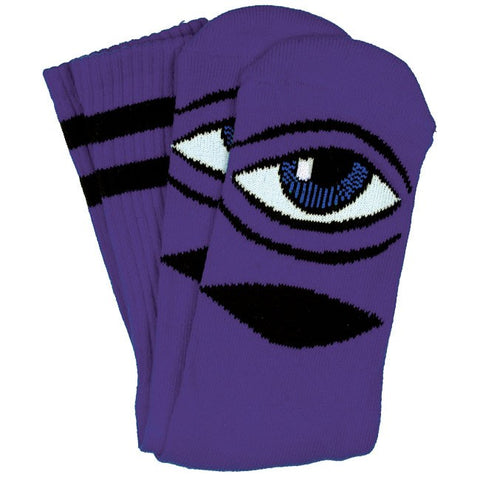 TOY MACHINE EYE SOCKS - PURPLE