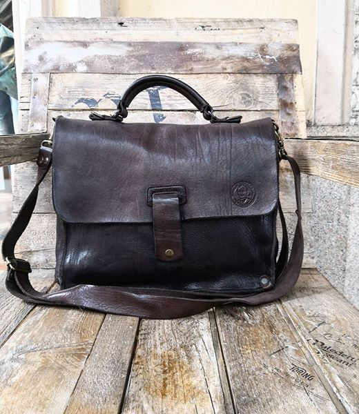 Genuine leather bag - made in Italy